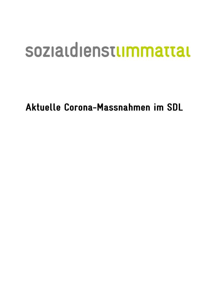 Übersicht Corona-Massnahmen im SDL, Update 29.10.2020